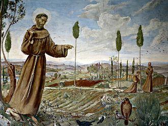 Baccio Maria Bacci - St Francis preaches to birds
