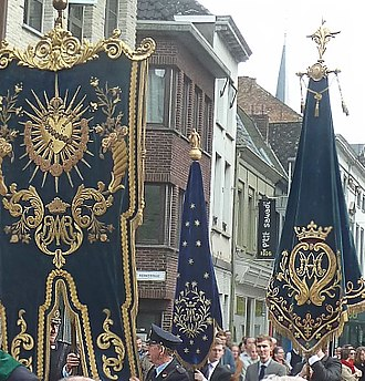 Banner - Religious banners of Catholic brotherhoods in Lier, Belgium
