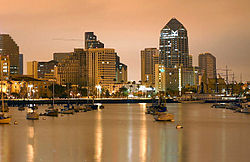 Skyline of San Diego, California