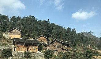 Sui people - Traditional Shui houses in Sandu