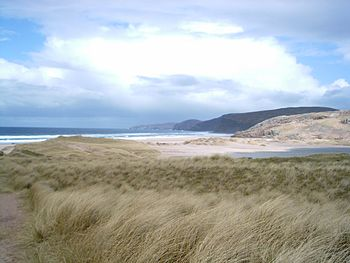 Look over Sandwood Bay