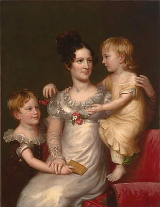 Charles Bird King - Image: Sarah Weston Seaton with Her Children Augstine and Julia