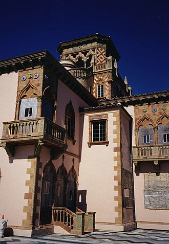 John Ringling - The Cà d'Zan mansion in Sarasota was designed for Mable and John Ringling by Dwight James Baum and built by Owen Burns