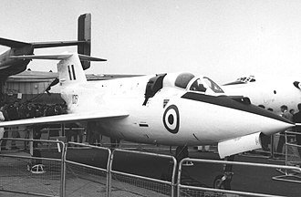 Saunders-Roe SR.53 - The second SR.53 on display at the September 1957 Farnborough Air Show