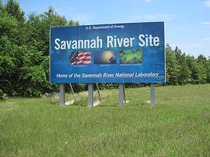 Savannah River Site - Sign near entrance to the Savannah River Site