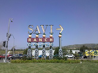 Yorba Linda, California - The original sign, since replaced with one in a Spanish style