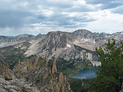 Sawtooth Mountains and Toxaway Lake Sawtooths and Toxaway Lake.JPG