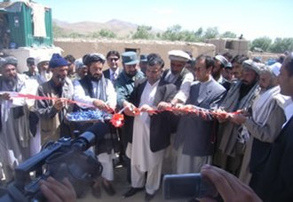 Saydabad District - Opening ceremony of the karez irrigation system repair project in Sayed-Abad district