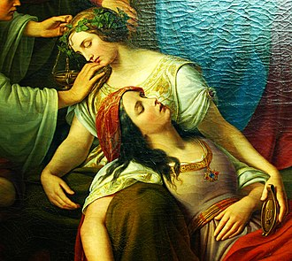 Parable of the Ten Virgins - Friedrich Wilhelm Schadow, The Parable of the Wise and Foolish Virgins, 1838–1842 (detail), Städel Museum,  Frankfurt am Main.