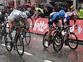 Scheldeprijs 2012, Final Charge - Marcel Kittel, Tyler Farrar, Theo Bos (7046784507).jpg