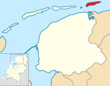 Schiermonnikoog locator map municipality NL 2018.png