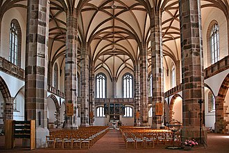 Hall church - Image: Schneeberg St. Wolfgangskirche inside 2 (aka)