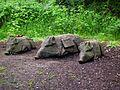 Schwein gehabt Skulpturengruppe Wildpark Klein-Auheim Juni 2012.JPG