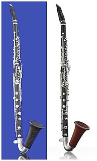 Basset horn wind instrument of the clarinet family