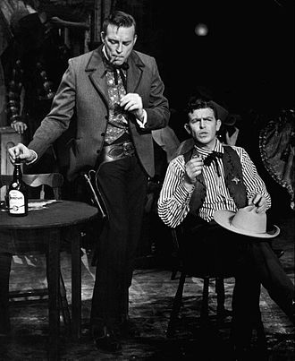 Scott Brady - Scott Brady and Andy Griffith in Broadway musical version of Destry Rides Again (1959)
