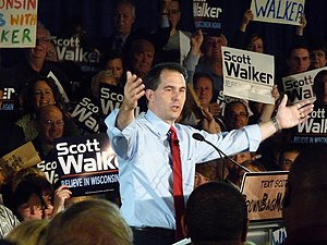 Scott Walker (politician) - Walker after winning the 2010 Republican gubernatorial primary