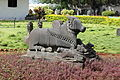 Sculpture of Nandi the bull at the Shivappa Nayaka Palace grounds.JPG