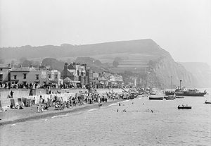 Sidmouth - Sidmouth Beach in 1924