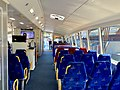 Seating inside the cabin at Nar-dha CityCat, Brisbane.jpg