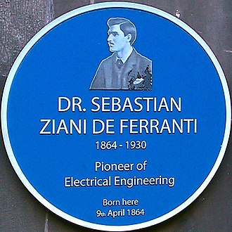 Sebastian Ziani de Ferranti - Blue Plaque (Liverpool)