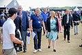 Secretary of State for Northern Ireland, Karen Bradley, attends Royal Portrush for the 2019 Open Championship (48345328677).jpg