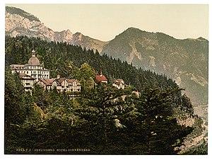 Seelisberg Conference - Image: Seelisberg and Hotel Sonnenberg, Lake Lucerne, Switzerland LCCN2001703101