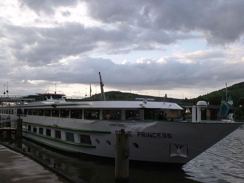 Seine Princess ship docked at Vernon
