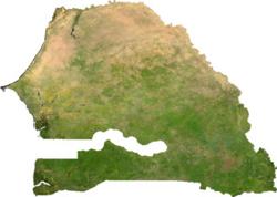 Satellitenkarte des Senegal