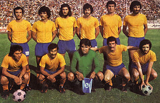 Sepahan S.C. - Sepahan in a match against Homa during 1975–76 season