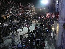 Una veduta della sfilata a Dobbiaco
