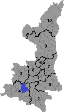Location in Shaanxi province