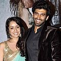 Shaddha Kapoor and Aditya Roy Kapur at AASHIQUI 2's audio release.jpg
