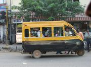 A share auto on the roads of Chennai, a variation on the auto-rickshaw—engineered to carry more passengers