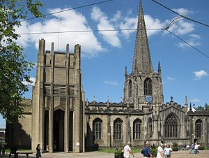 Listed buildings in Sheffield - Image: Sheffield Cathedral June 2009