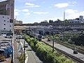 Shinkansen Shin-Yokohama station solid crossing railway lines 01.jpg