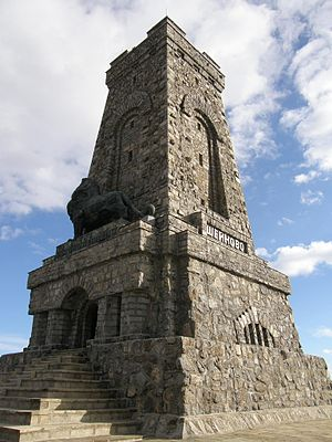Shipka Pass - A close view of the Shipka Memorial