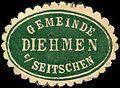 Siegelmarke Gemeinde Diehmen bei Seitschen W0220244.jpg