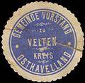 Siegelmarke Gemeinde Vorstand zu Velten Kreis Osthavelland W0382705.jpg