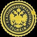 Siegelmarke K.K. Bezirkshauptmannschaft Tolmein W0320965.jpg