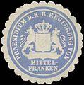 Siegelmarke Praesidium d. K.Bayer. Regierung von Mittelfranken W0385381.jpg