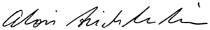 Alois, Hereditary Prince of Liechtenstein - Image: Signature of Alois, Hereditary Prince of Liechtenstein