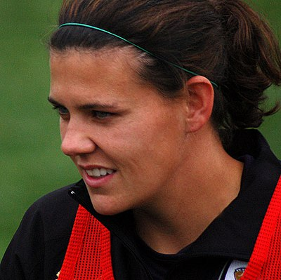 Christine Sinclair of Canada is currently the active player (among both women and men) with the most goals in international football with 182 goals. Sinclair allstar.jpg