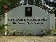 Sir. Roland Symonette Park Sign