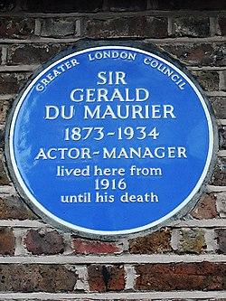 Photo of Gerald du Maurier blue plaque