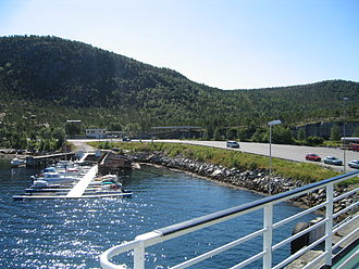 Skarberget - The ferry quay at Skarberget.