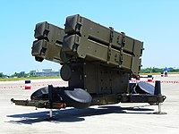 Skyguard-Sparrow Misslie Launcher Display at Chih Hang Air Force Base Apron 20130601a.jpg