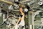 Skylab 3 Garriott on ergometer.jpg