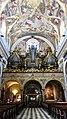 Slovénie, Ljubljana, Cathédrale Saint-Nicolas (Stolnica svetega Nikolaja), Nef centrale et son plafond (1705-1706), Grandes orgues (1736-1737) (46057645272).jpg