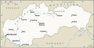 Outline of Slovakia - An enlargeable basic map of Slovakia