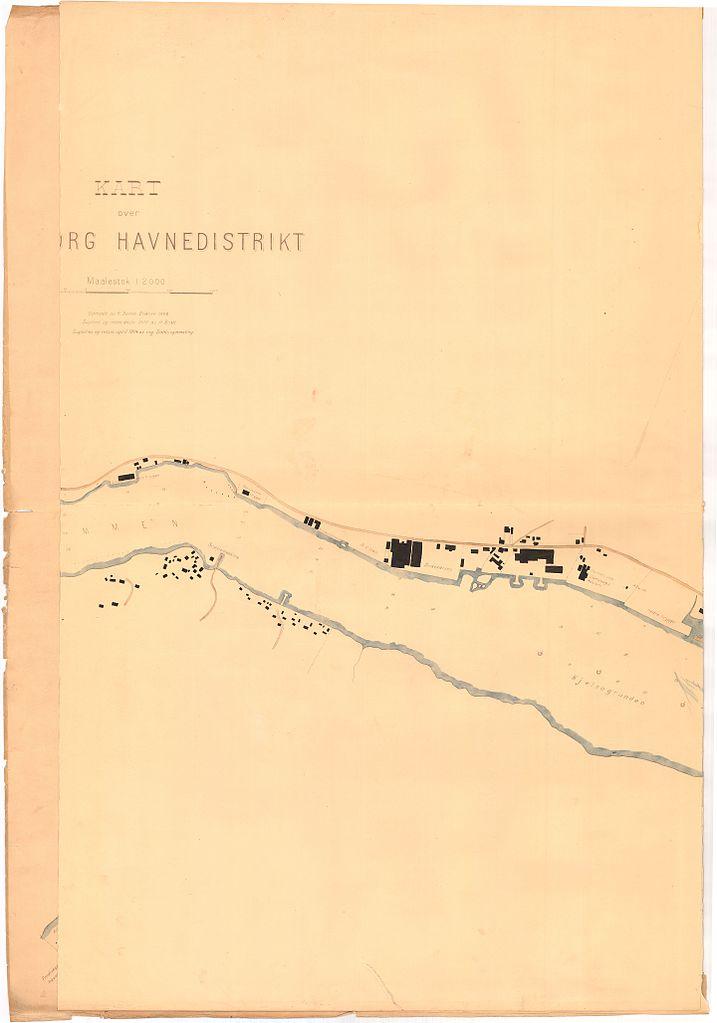 File Smalenenes Amt Nr 125 B3 Kart Over Sarpsborg 1860 Jpg